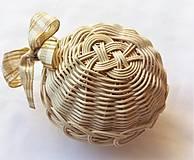 Dekorácie - Vianočné gule s lurexovou mašľou - 10465613_