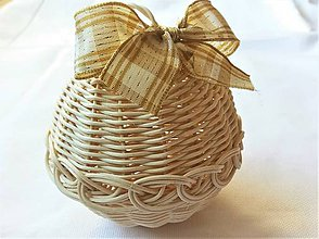Dekorácie - Vianočné gule s lurexovou mašľou (č.1 - 1 kus) - 10465610_