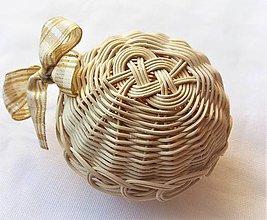 Dekorácie - Vianočné gule s lurexovou mašľou (č.2 - 1 kus) - 10465613_