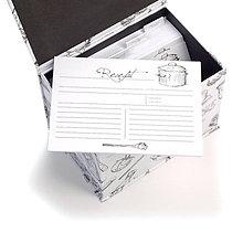 Papiernictvo - Kartičky do receptára I 50 ks - 10465024_