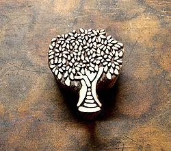 Pomôcky/Nástroje - Drevená pečiatka - strom listnatý - 10467763_