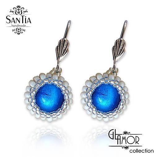 f0195368e Náušnice: Modro-strieborné guličky (Chirurgická oceľ) / San-Tia ...