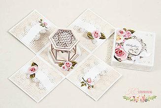 Papiernictvo - Darčeková krabička k svadbe I - 10470754_
