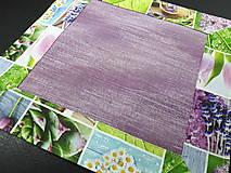 Úžitkový textil - Jarný set  (Prestieranie s kvetinovým lemom 42×42 cm) - 10468961_