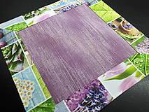 Úžitkový textil - Jarný set  (Prestieranie s kvetinovým lemom 42×42 cm) - 10468962_