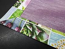 Úžitkový textil - Jarný set  (Prestieranie s kvetinovým lemom 42×42 cm) - 10468963_