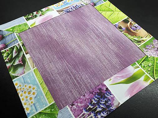 Jarný set  (Prestieranie s kvetinovým lemom 42×42 cm)