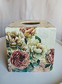"Krabičky - Box na vreckovky ""Antique Rose"" - 10469788_"