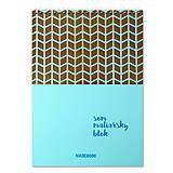 Papiernictvo - MADEBOOK špirálový blok A4 - BLEDOMODRÝ - 10468842_