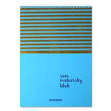 Papiernictvo - MADEBOOK špirálový blok A4 - MODRÝ - 10468848_