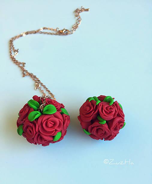 32b6748f3 Náhrdelník_Kytica ruží / ZuzHa - SAShE.sk - Handmade Náhrdelníky