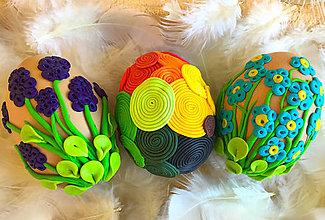 Dekorácie - Sada veľkonočných vajíčok - 10468734_