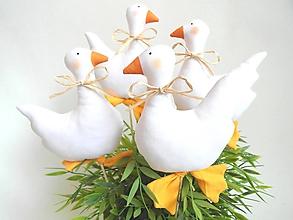 Dekorácie - Biele kačičky... - 10470564_