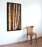 Obrazy - Malovaný obraz velké Břízky - 10471157_