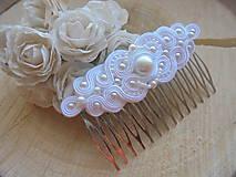 Ozdoby do vlasov - Soutache hrebienok Lilien - 10470301_