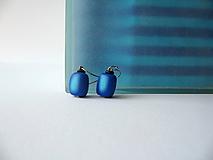Náušnice - ,,Náušnice-modré blendované,, - 10470983_