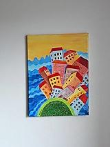 Obraz krajiny -  La Habana, mesto, 30 x 40 cm