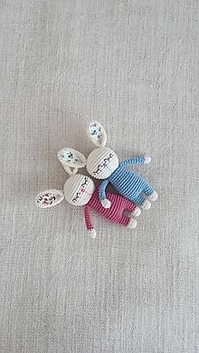 Hračky - Háčkovaný zajko - 10469099_
