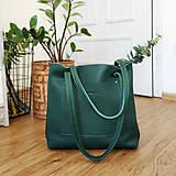 - Nina (kožená kabelka smaragdová) (Zips + popruh) - 10468705_