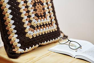 Úžitkový textil - Čokoládovo-hnedý vankúš - 10468067_