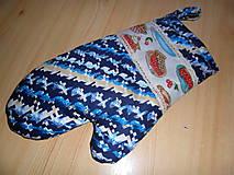 Úžitkový textil - Chňapka modrá - 10469654_
