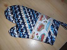 Úžitkový textil - Chňapka modrá - 10469655_