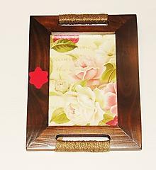 Rámiky - Vintage rámik ruže - 10467969_