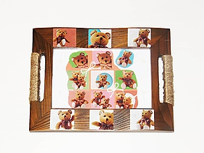 Detské doplnky - Macko Uško - obraz v ráme z dreva - 10467971_