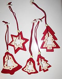 Dekorácie - Vianočné ozdoby - sada 5 kusov - 10467974_