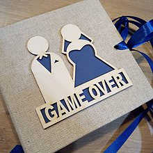 Darčeky pre svadobčanov - Svadobná obálka na peniaze GAME OVER - 10470863_
