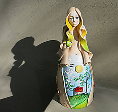 """Socha - """"Vo dne v noci"""" - maľovaný zvonec - 10468915_"""