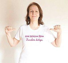 Tričká - tričko ideálna žena - 10470954_