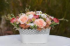 Dekorácie - Vintage dekorácia s ružami - 10471166_