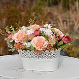 Dekorácie - Vintage dekorácia s ružami - 10471167_