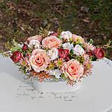 Dekorácie - Vintage dekorácia s ružami - 10471168_