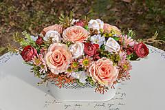 Dekorácie - Vintage dekorácia s ružami - 10471173_