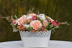Dekorácie - Vintage dekorácia s ružami - 10471174_
