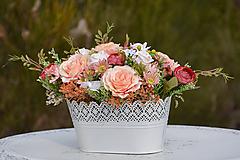 Dekorácie - Vintage dekorácia s ružami - 10471175_