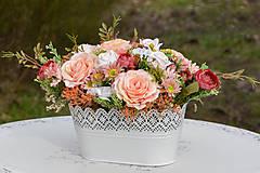 Dekorácie - Vintage dekorácia s ružami - 10471176_