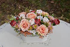Dekorácie - Vintage dekorácia s ružami - 10471181_