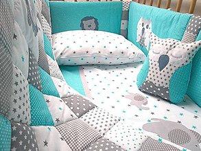 Textil - Postieľka Tyrkys - 10469368_