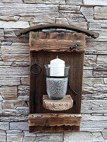 Svietidlá a sviečky - svietnik dekorácia - 10470408_