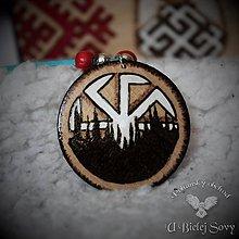 Náhrdelníky - Kolovrat a les, amulet - 10468207_