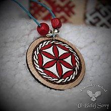 Náhrdelníky - Svarga maľovaná, amulet - 10468213_
