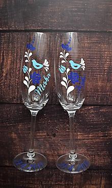 Nádoby - Svadobné poháre Folk 2 - 10469046_