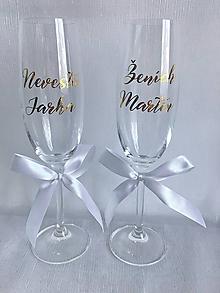 Nádoby - Svadobné poháre Nevesta Ženích - 10469858_