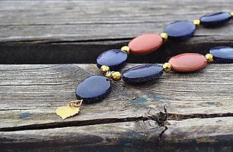 Náhrdelníky - Káhirska noc náhrdelník  v pozlátenom striebre - 10469642_