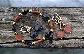 Sady šperkov - Piesok púšte a káhirska noc sada v pozlátenom striebre - 10469863_