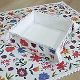 Úžitkový textil - DANA - košíček na drobnosti 15x15 - 10469014_