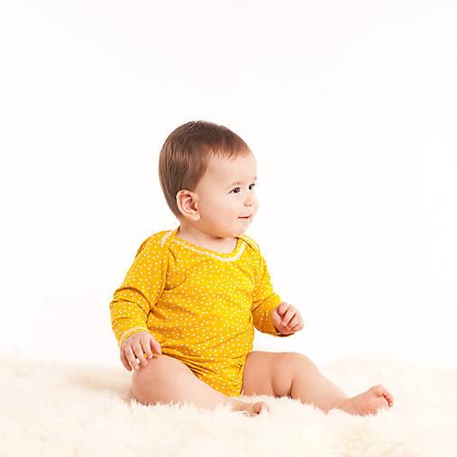 Body z bio bavlny - žlté